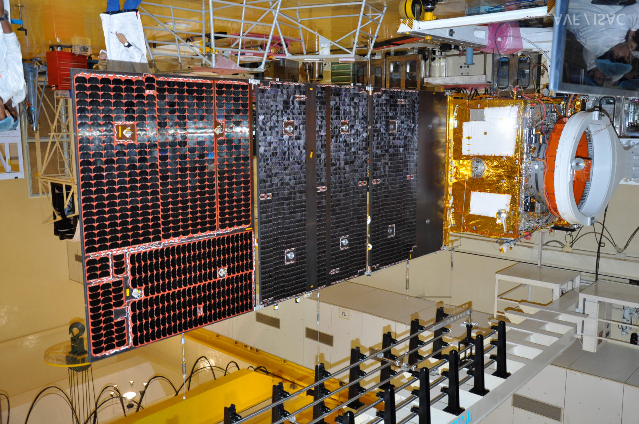 isro satellite during ground testing