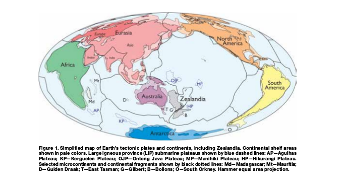 zealandia a new continent on map